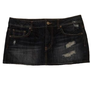 American Eagle distressed button fly mini skirt